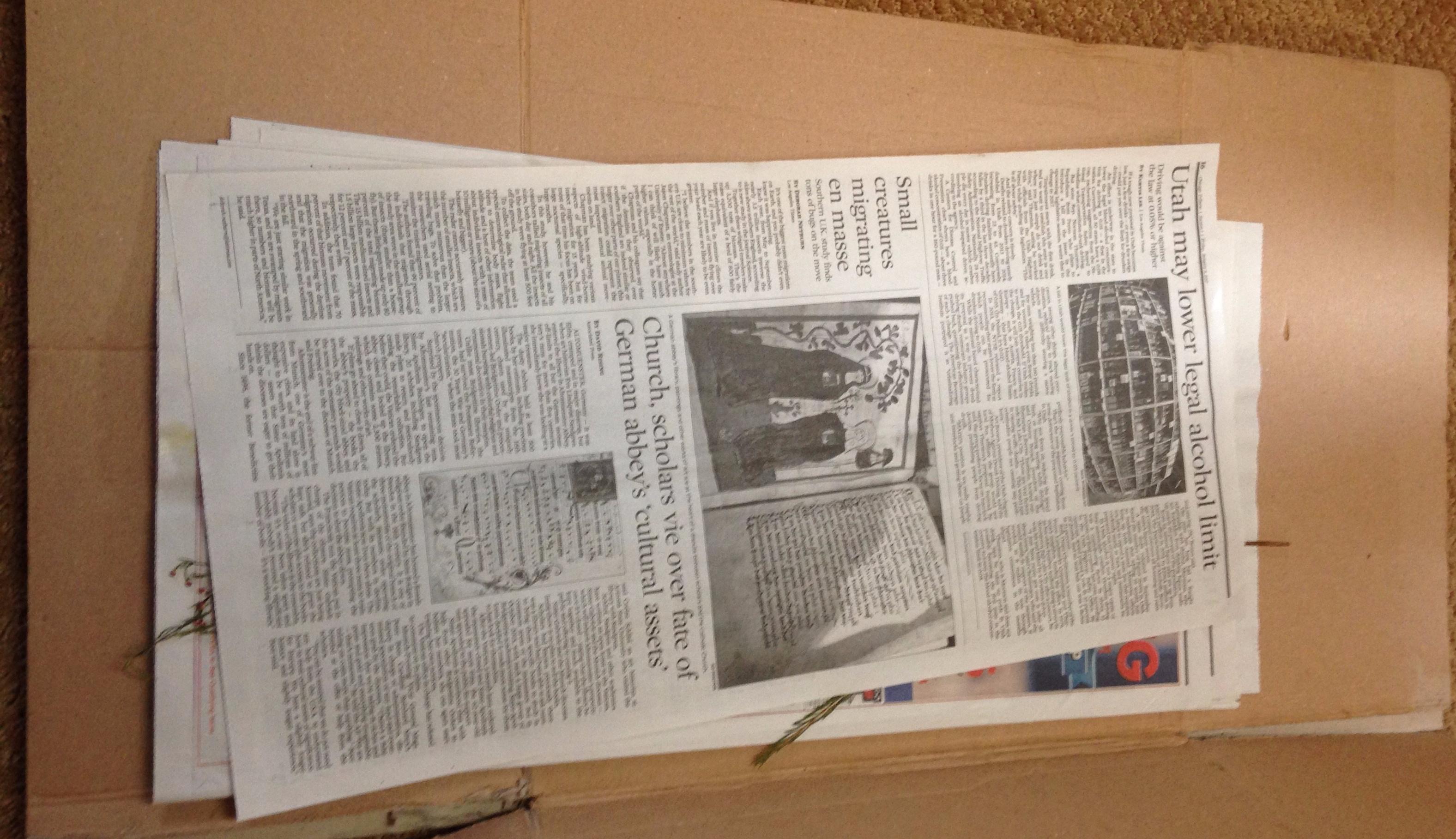 Newspaper and Cardboard NofarmNeeded