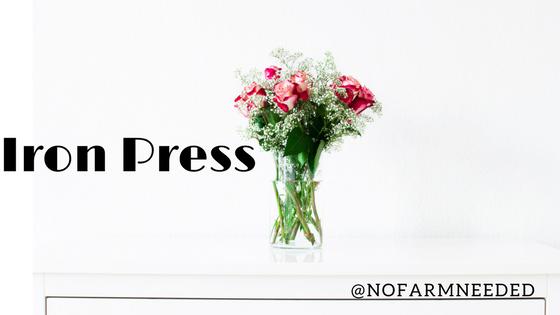iron press flowers