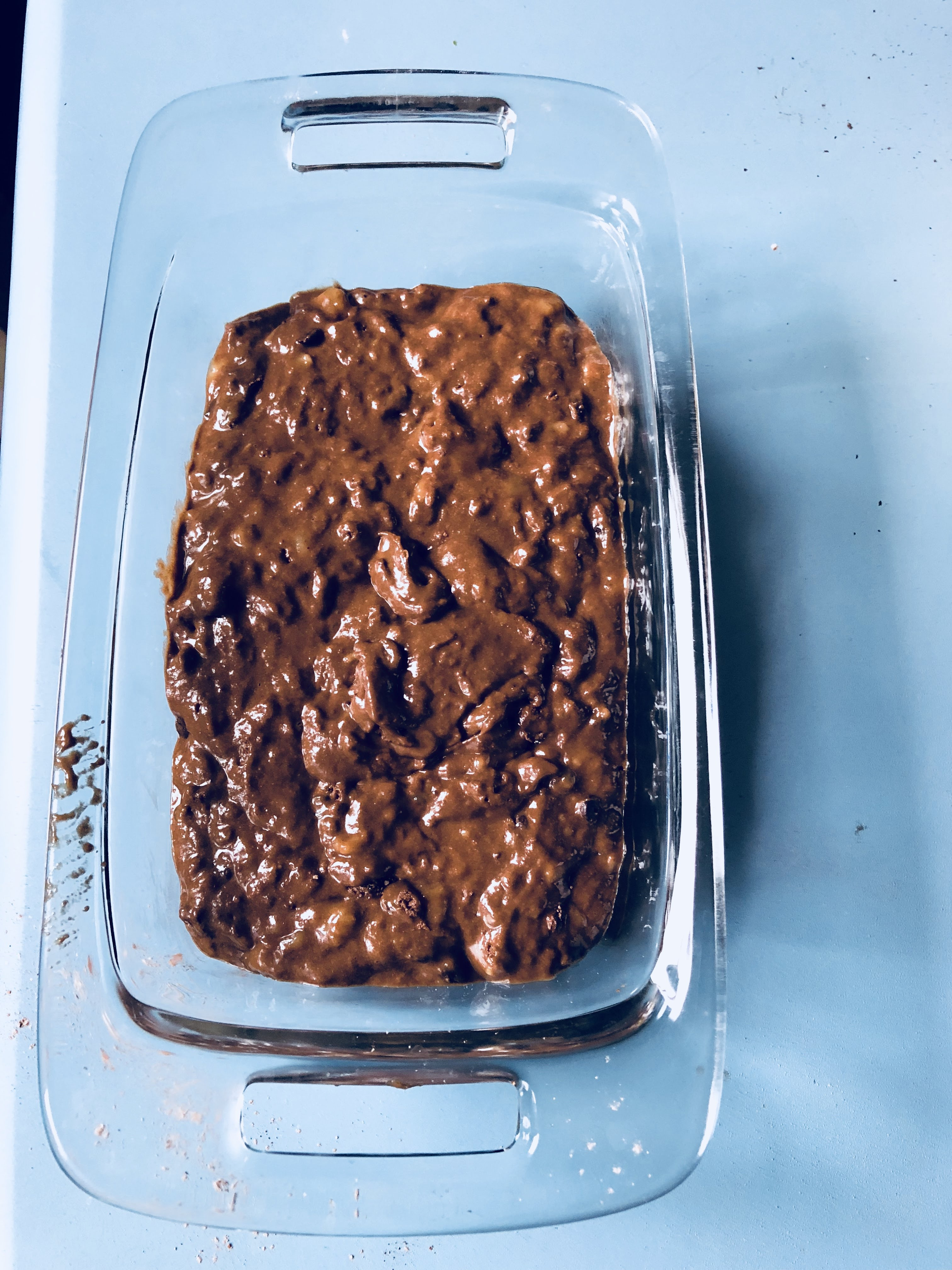 Putting the Chocolate Banana Bread
