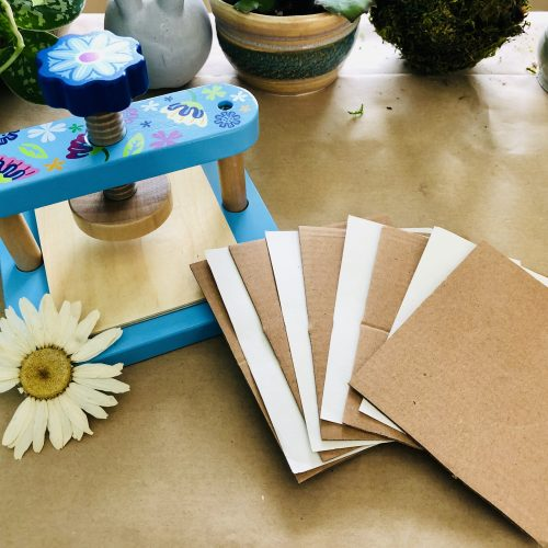 on-the-go pressed flower press