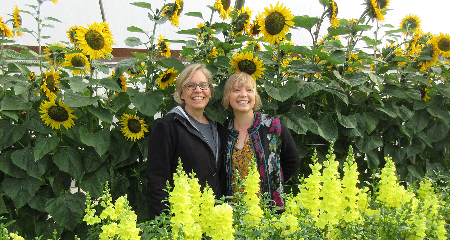 Two Horticulturists - Allison Zeeb and Gail Pabst -No Farm Needed