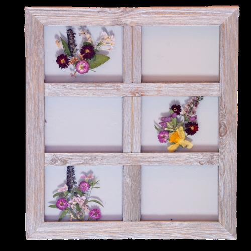 6 pane barnwood frame from NoFarmNeeded