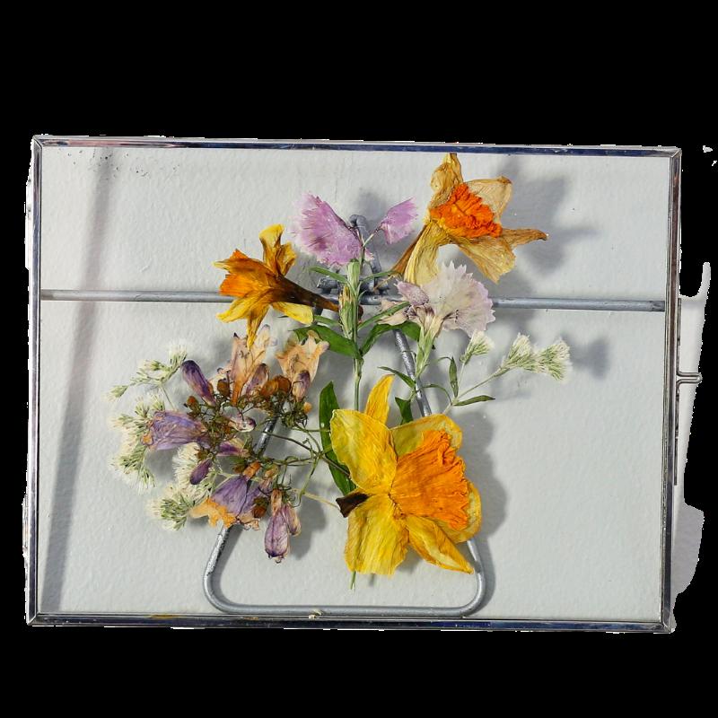 pressed botanical desk frame