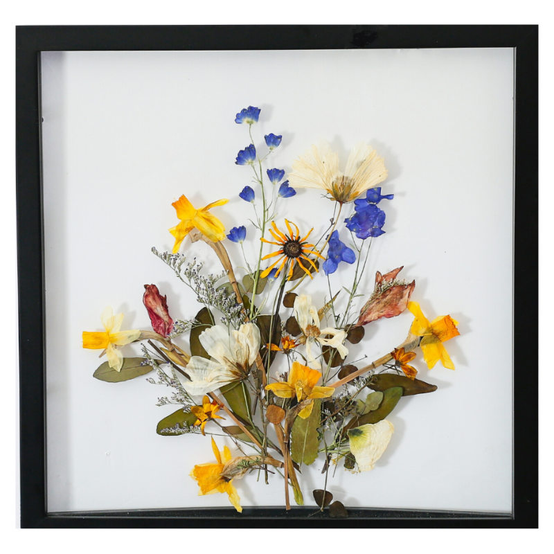 Flower Bouquet Pressed Botanical