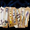 garden flower pressed bookmark