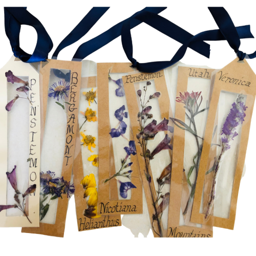 garden flower pressed bookmark