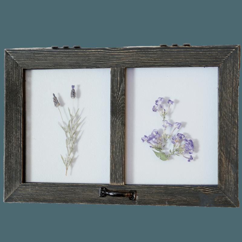 Pressed Botanical Barnwood