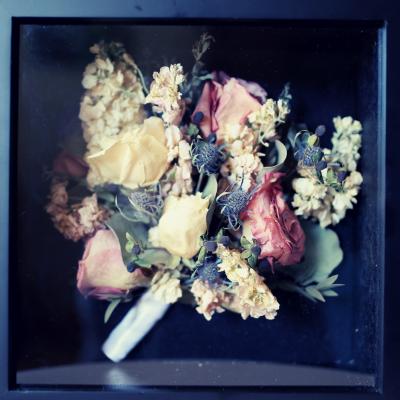 Wedding Flowers - Shadow Box