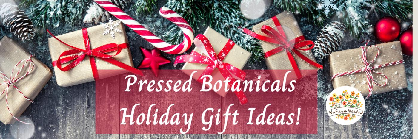Pressed Botanical Holiday Gift Ideas