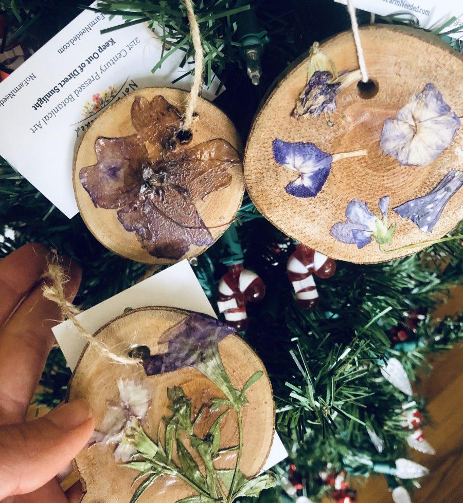 3 botanical ornaments nofarmneeded
