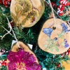 peony, petunia, yarrow botanical ornaments