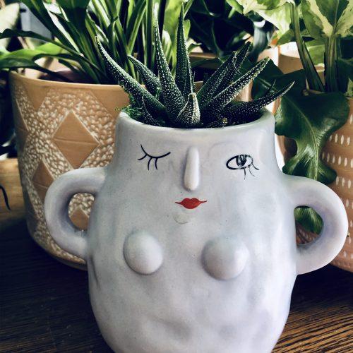 woman empowerment succulent planter 1